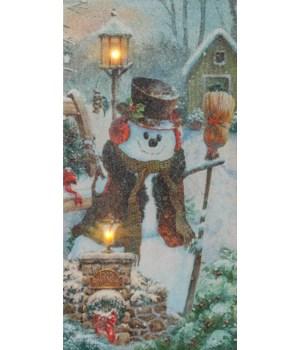 LED Canvas - Snowman