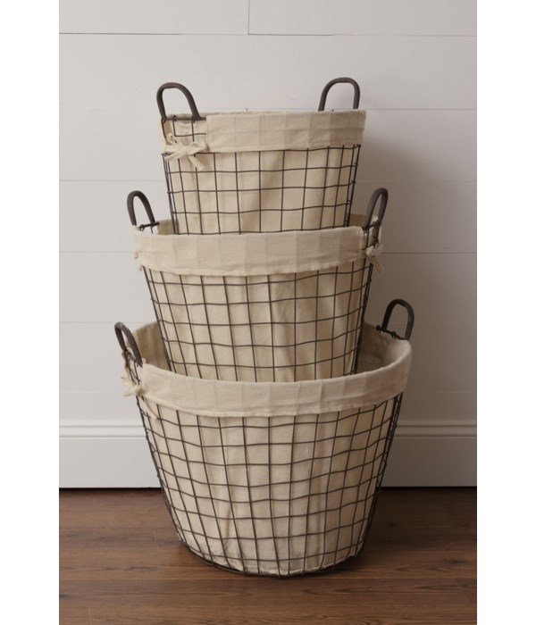 Wire Baskets With Liner
