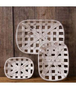 Tobacco Baskets - Antiqued Rectangular