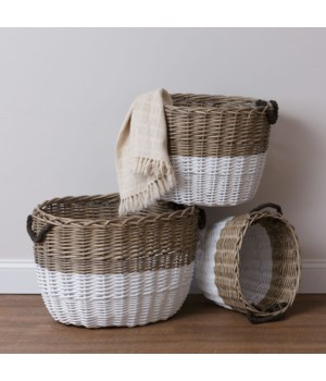 Baskets - Two-Tone, Oval