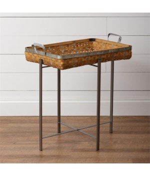 Basket on Folding Stand 28 in. x 25.5 in. x 5.5 in.