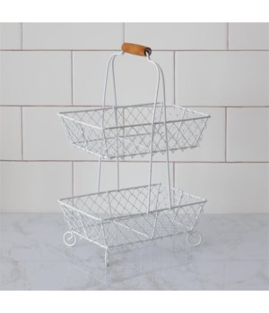 Wire Basket - Two Tiered