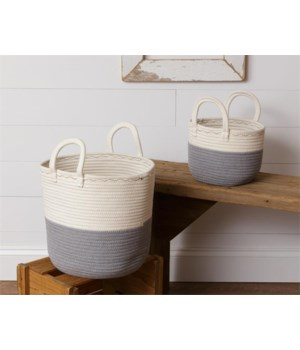 Two Tone Rope Baskets