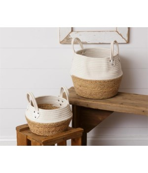 Rope and Straw Baskets