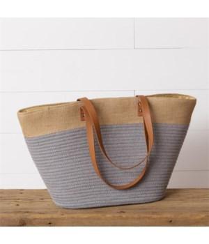 Rope Tote Bag, Gray