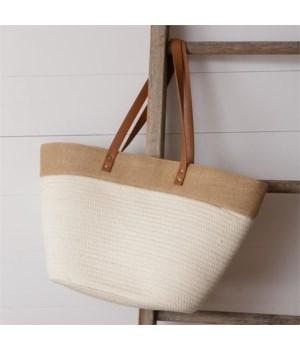 Rope Tote Bag, Cream