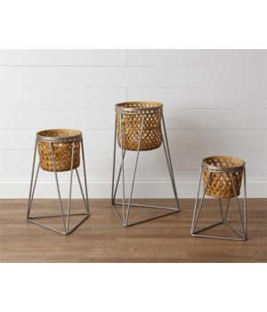 Bamboo Baskets On Stands