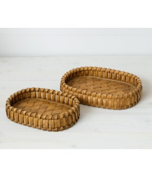 Woven Chipwood Trays