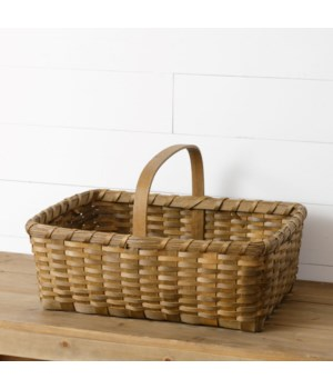 Chipwood Basket With Handle, Large
