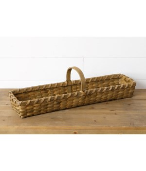 Rectangle Chipwood Basket With Handle