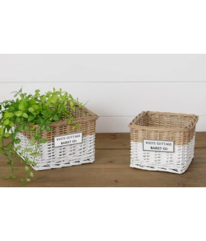 White Cottage Basket Co. Two-Toned Baskets