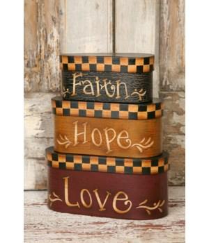 Nesting Boxes - Faith, Hope, Love