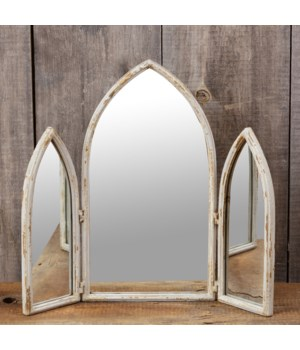 Tri Fold Cathedral Mirror