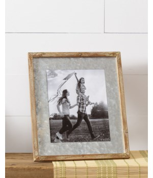 Picture Frame - Galvanized Mat, Large 12 in. x 14 in.