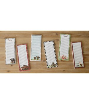 Magnetic Notepad - Farm Animals