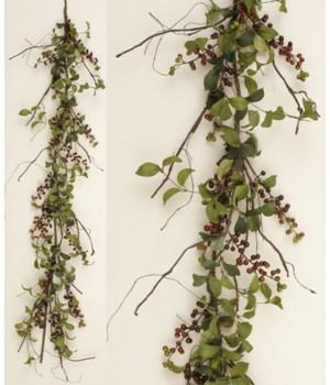 Garland - Herb Leaves With Bu Berries 60 in.