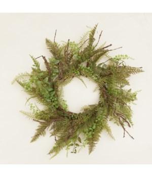 Wreath - Ferns & Foliage 24 in. outside, 9 in. inside