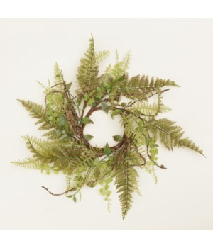 Candle Ring - Ferns & Foliage