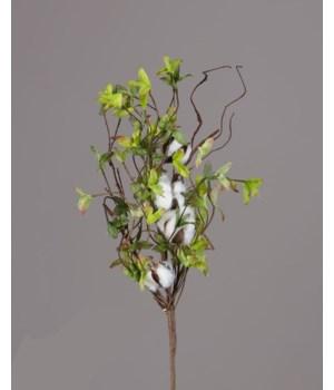 Bush - Cotton Miniature Green Leaves 18 in.