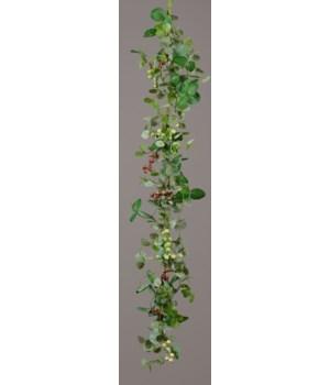 Garland - Eucalyptus Assortment, Berry Clusters 48 in.