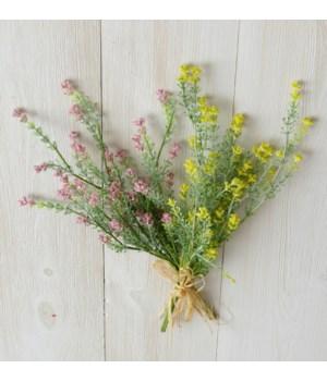Pick - Yellow And Pink Mini Spikes, Foliage