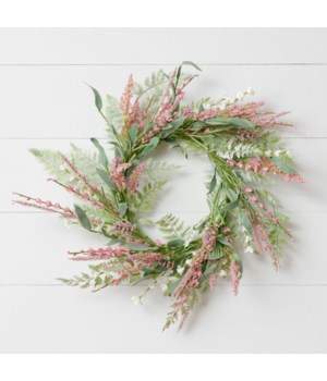 Wreath - Mauve And Pink Asst Spikes, Foliage