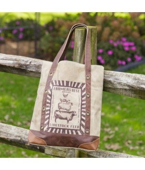 Canvas Tote Bag - Farmers Best 15 in. x 14.5 in. x 3 in.