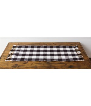 Table Runner - Black And White Checkered
