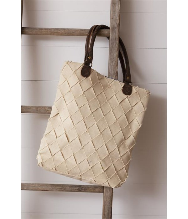 Tote Bag - Woven Texture 15.5 in. x 14.5 in.