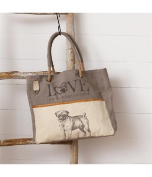 Tote Bag - Love is a Four Legged Word 14 in. x 18.5 in.