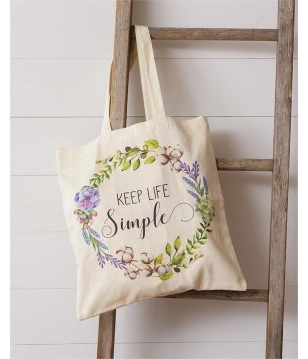 Tote Bag - Keep Life Simple 16 in. x 16 in.