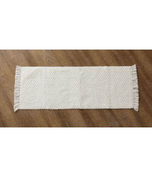 Woven Cotton Table Runner With Fringe