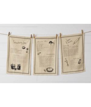 Tea Towels - Recipes