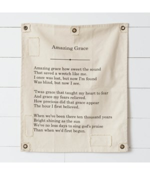 Canvas Wall Hanging - Amazing Grace