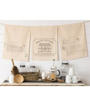 White Cottage Coffee Tea Towels