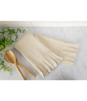 Ruffle Natural Tea Towels