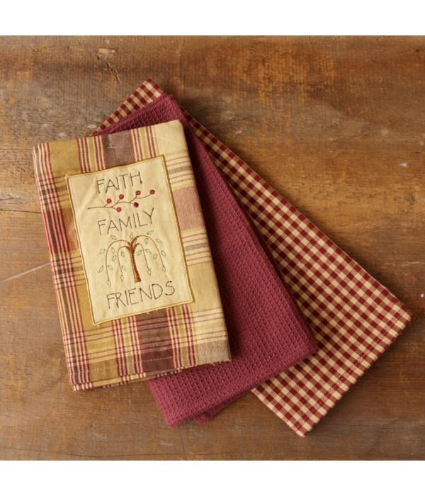 Tea Towels - Faith, Family, Friends