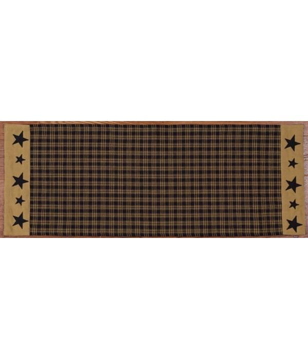 Table Runner - Primitive Star Black