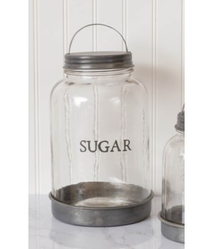 Glass Sugar Canister