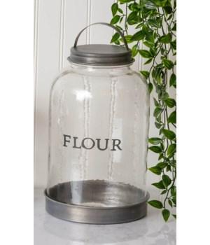 Glass Flour Canister