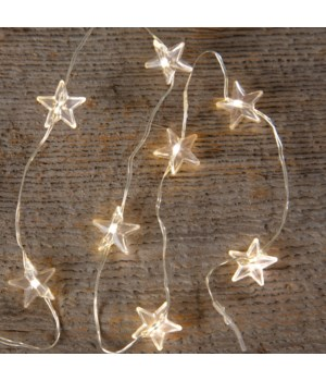 Micro Led Light String - Warm White Star Bulbs