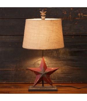 Lamp - Star With Burlap Shade