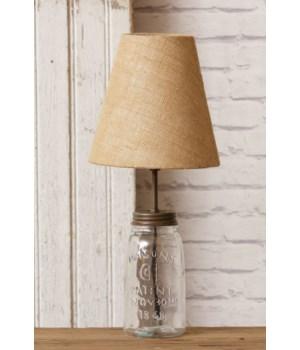 Mason Jar Lamp, Clear 18.5 in. x 3.5 in.