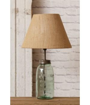 Mason Jar Lamp, Green 19.5 in. x 4.5 in.