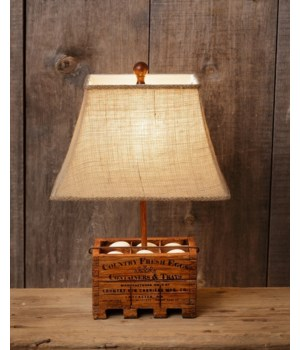 Lamp - Country Fresh Eggs 19.5 in. x 8.5 in.