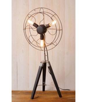 Lamp - Tripod Fan 38 in. x 18 in. x 5 in.