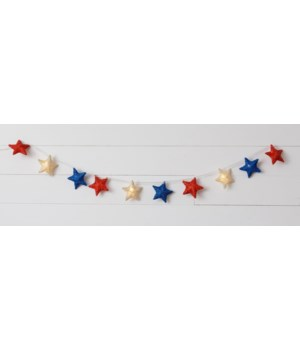 Red White And Blue Star Lights