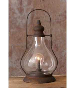 Hurricane Lantern With Led Light