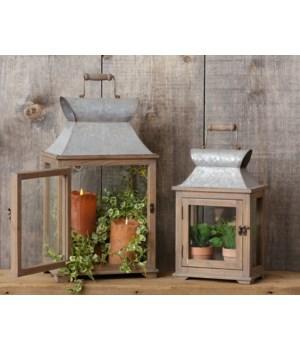 Lanterns - Wood And Galvanized