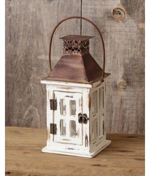 Lantern - White Rusty Top, Sm